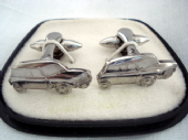 Iconic Mini Car Cufflinks - 1960's to 1970's - White Metal in Original Box (SOLD)